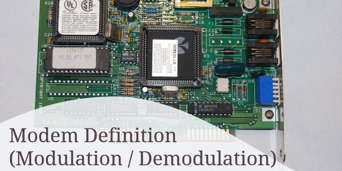 Modem (Modulation_Demodulation) Definition