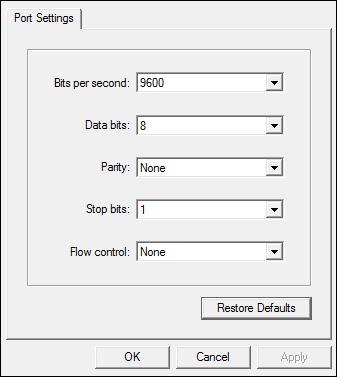 port settings