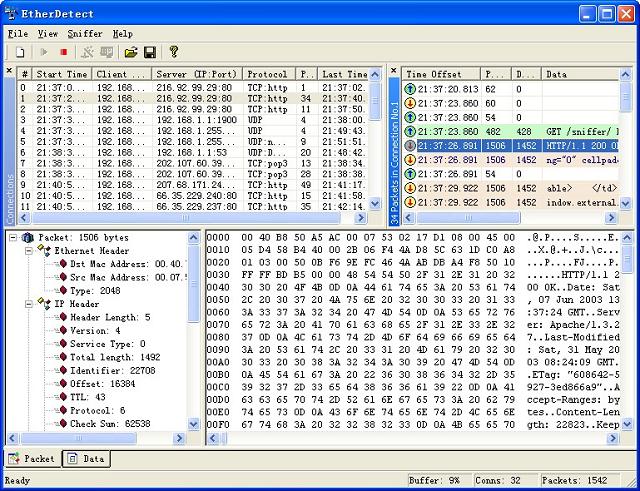 EtherDetect screenshot