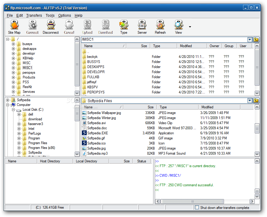 ALFTP screenshot