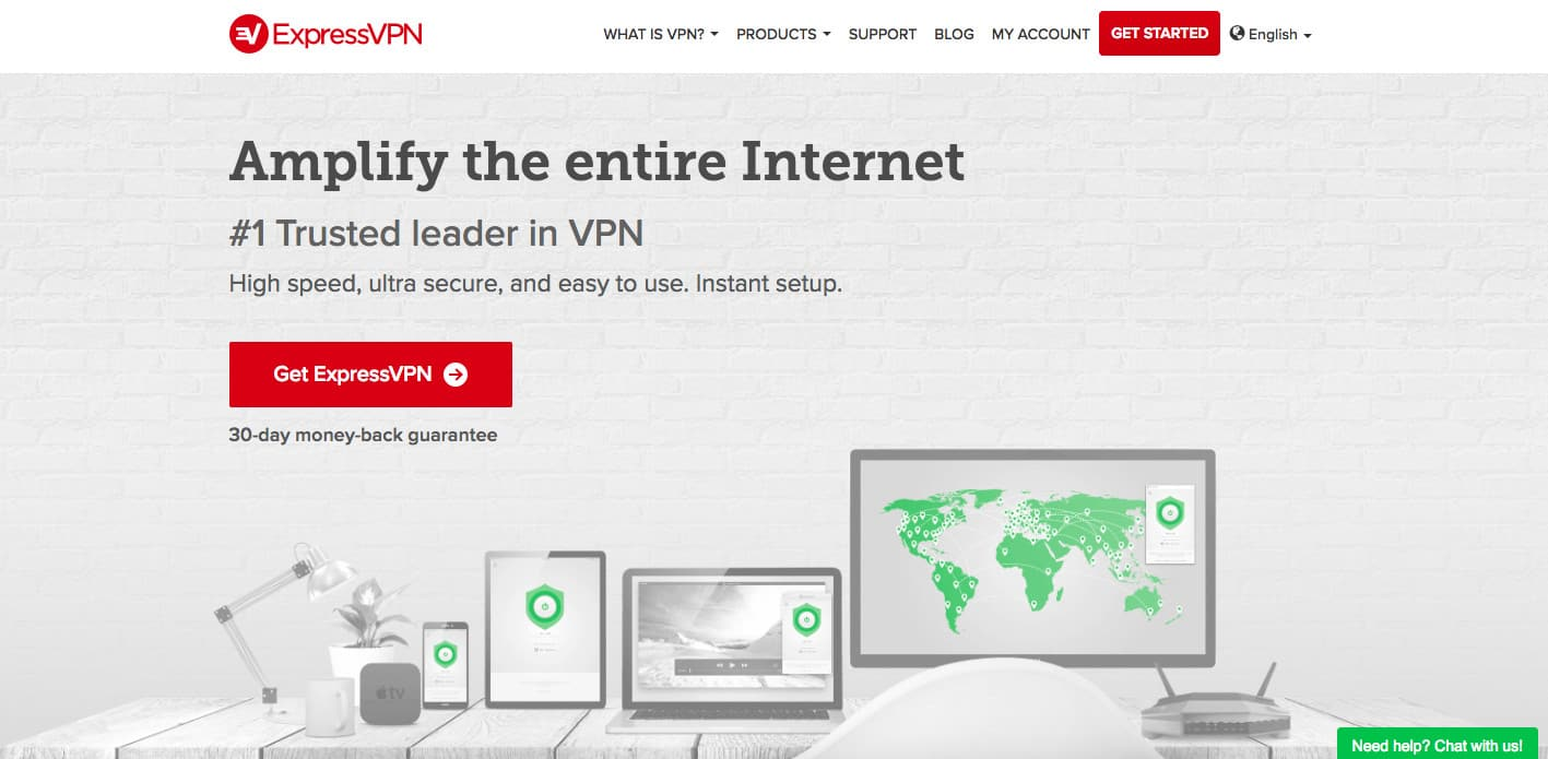 Express vpn screenshot homepage