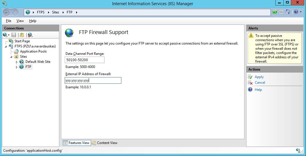 IIS FTPS Server screenshot