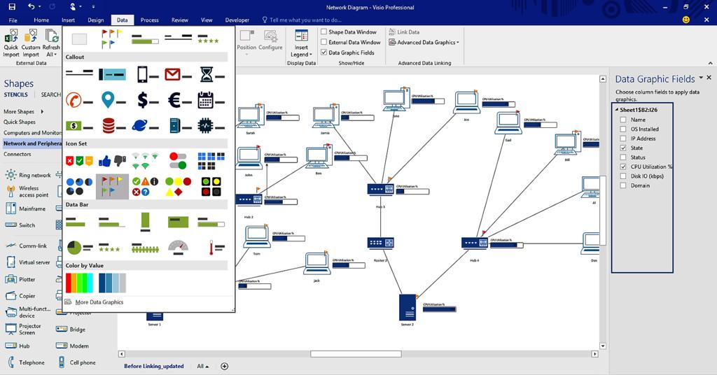 Microsoft Visio Screenshot