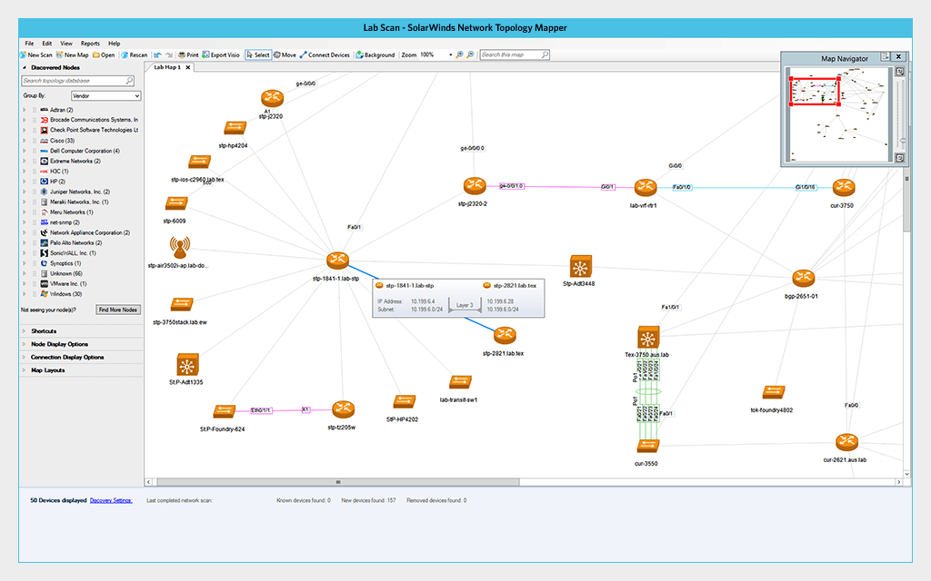 SolarWinds Network Topology Mapper picture