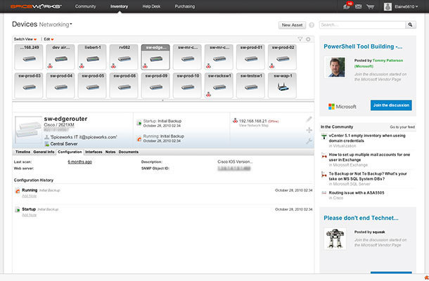 Spiceworks TFTP Screenshot