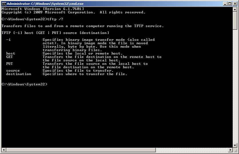Windows TFTP Utility Screenshot