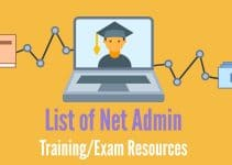 List of Net Admin Training and exam resources header