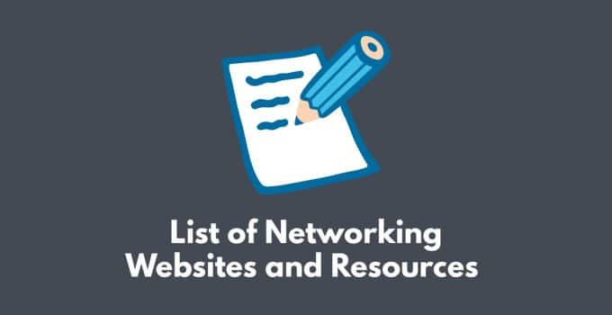 List of networking websites and resources