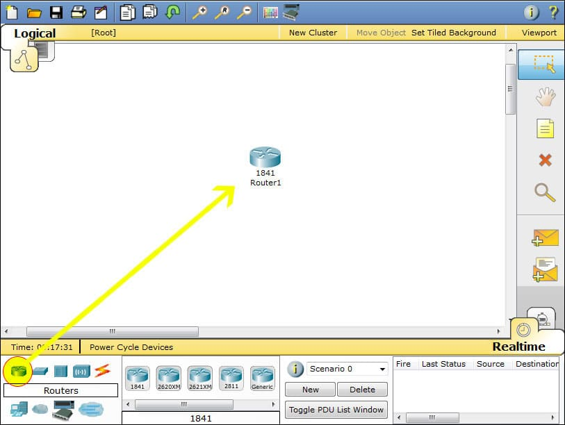 Packet Tracer Router screenshot