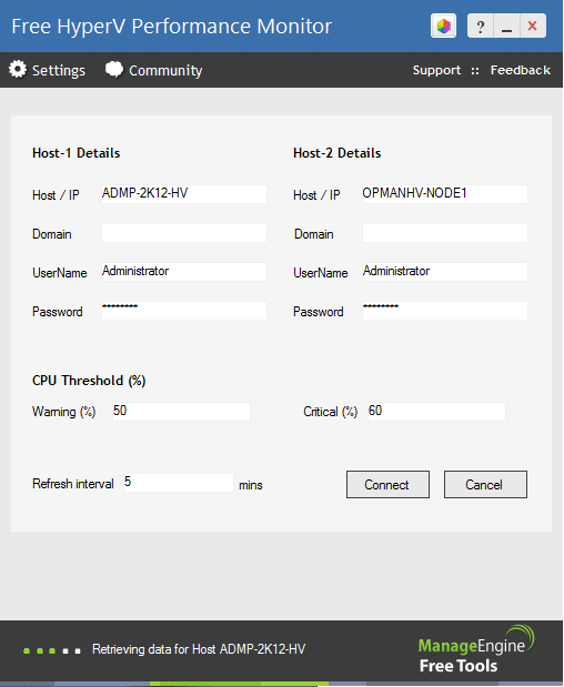 ManageEngine Free Hyper-V Performance monitor