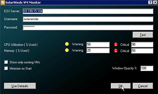 SolarWinds VM Monitor