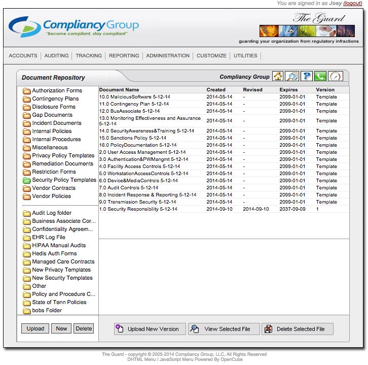 Compliancy Group HIPAA Software