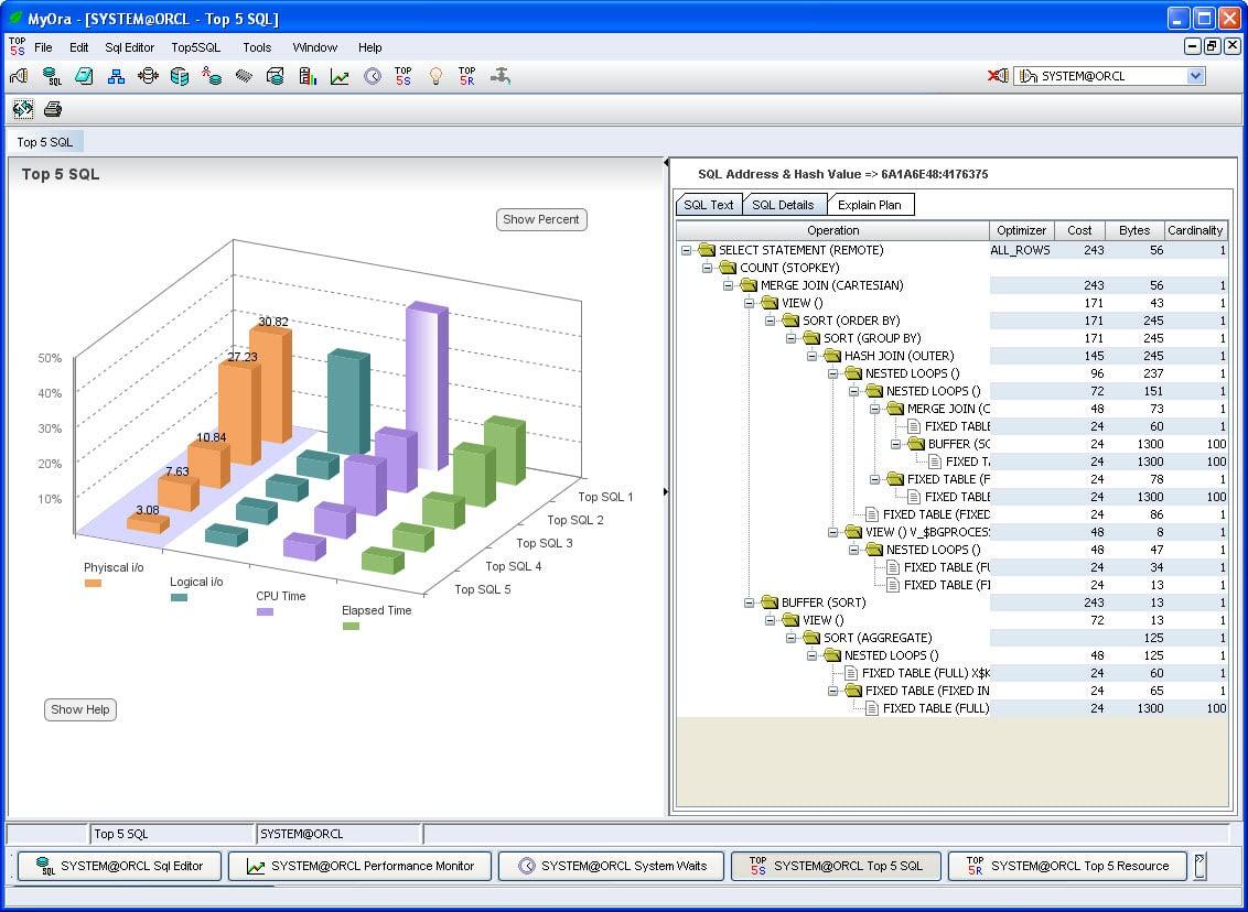 MyOra oracle database tool