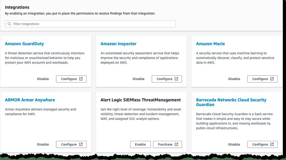 AWS Security Hub report