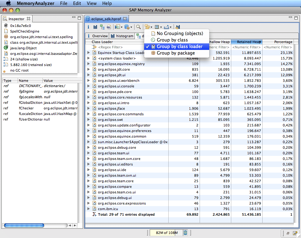 java memory leakage in Eclipse memory analyzer