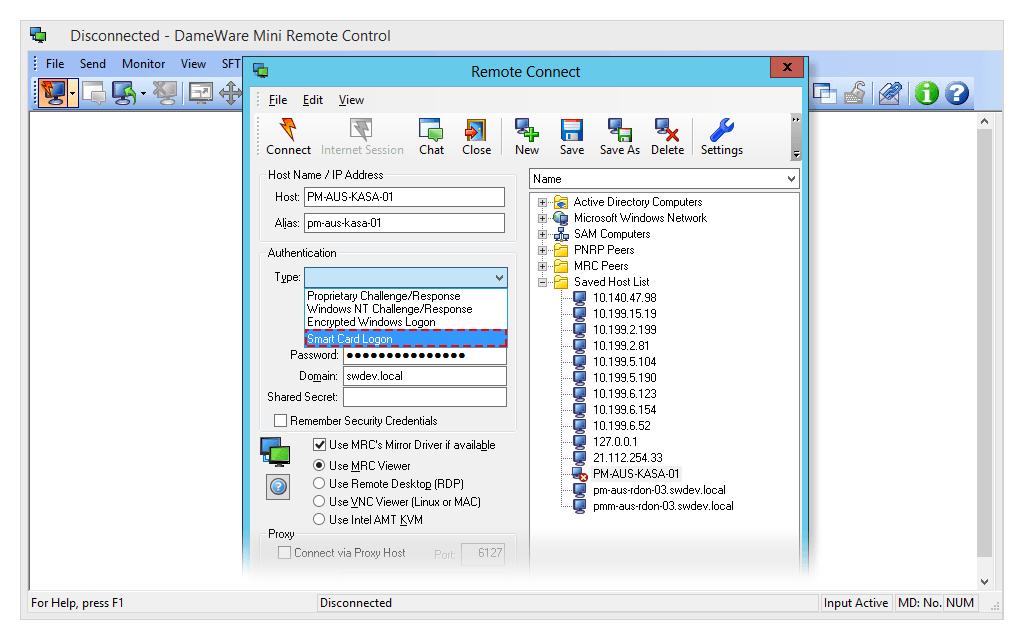 dameware mini controller