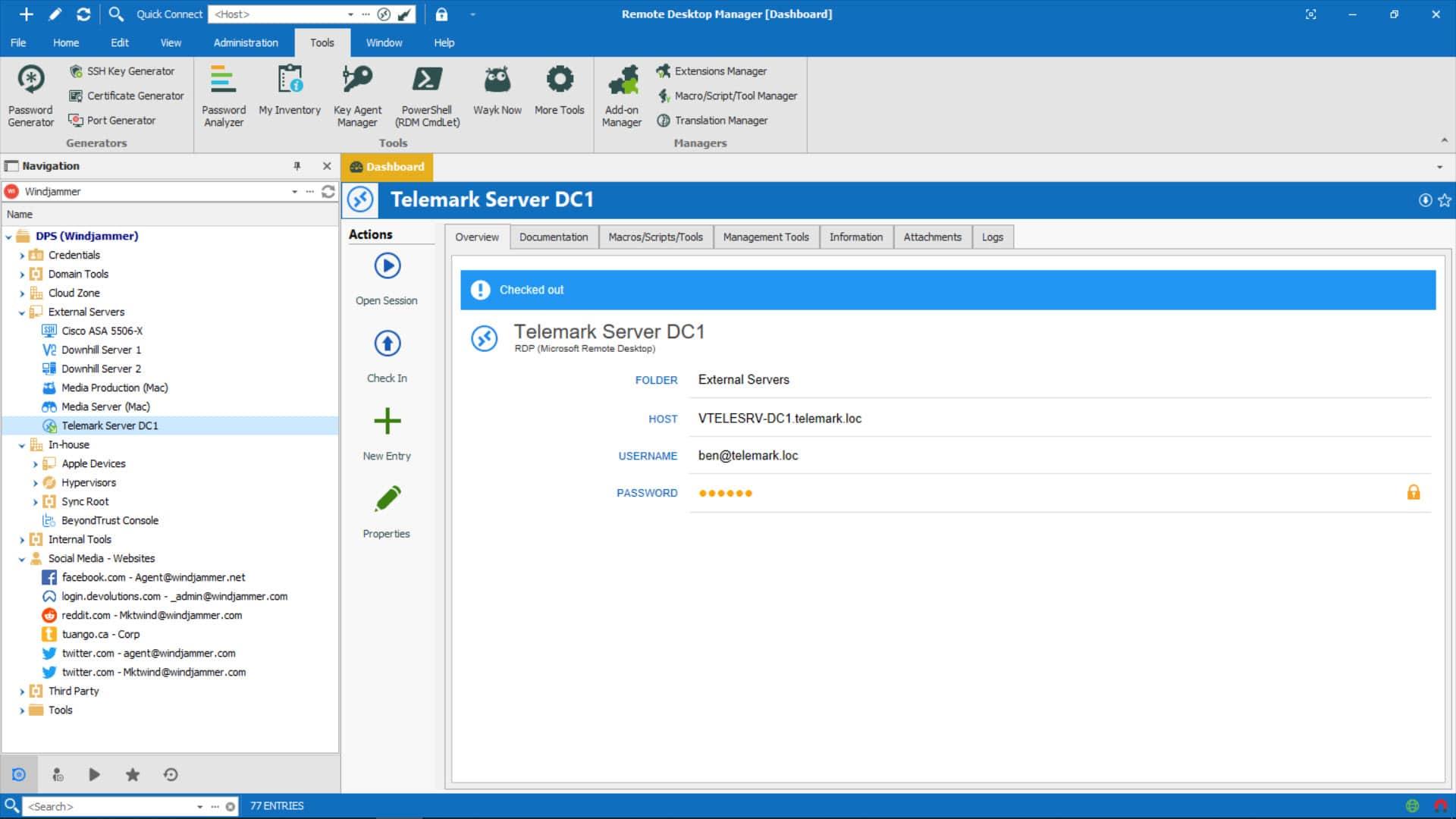Devolutions remote desktop connection manager
