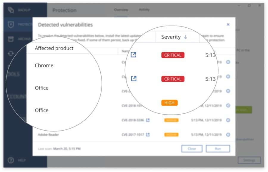Acronis Vulnerability Assessment
