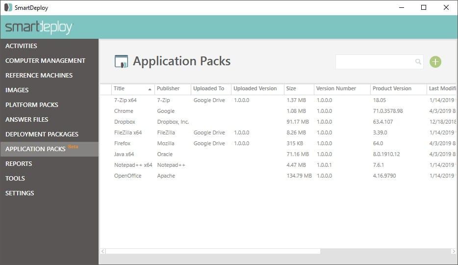 SmartDeploy Application Packs