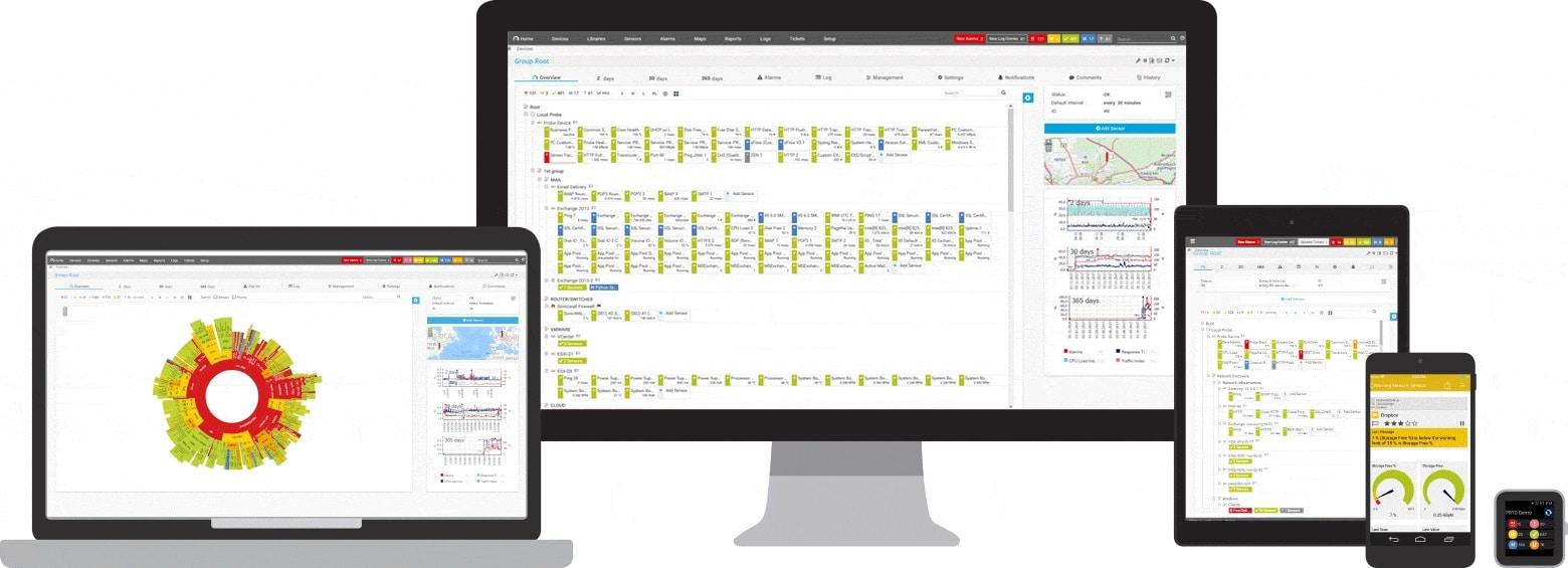 Paessler PRTG Network Monitor interfaces