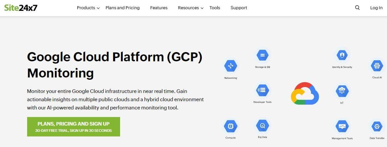 Site24x7 Google Cloud Platform (GCP) Monitoring